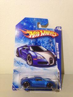 Hot Wheels 2010 Hot Auction 2004 Bugatti Veyron  ** Brand New ** Matte Blue/silv #HotWheels #Bugatti