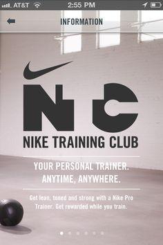 nike training club #mobile #tablet #ui #design