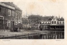 Galgewater gezien in de richting  van de Paardesteeg(tegenwoordige Princessekade)  `1900 Leiden, Holland, History, City, Capri, Painting, Beautiful, The Nederlands, Historia