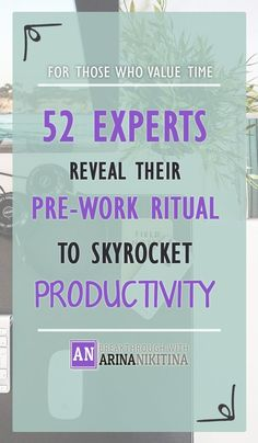 OMG... Such a collection of productivity rituals!