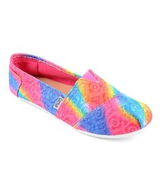 Take a look at the Sues Fuchsia Lace Sue Slip-On Shoe on #zulily today!