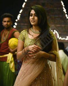 ✨✨ via Preethi ŁÖVË Indian Skirt, Indian Dresses, Indian Outfits, Beautiful Saree, Beautiful Indian Actress, Beautiful Actresses, Half Saree Lehenga, Bridal Lehenga Collection, Indian Wife