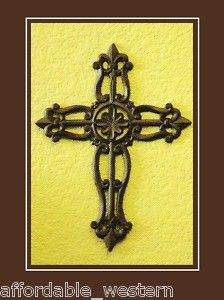 Iron Crosses Decor | Western Home Decor Cast Iron Wall Cross Rustic Flower | eBay