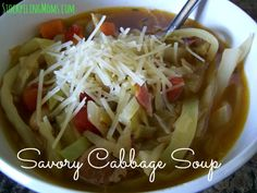 Savory Cabbage Soup is delicious and can be made in less than an hour!