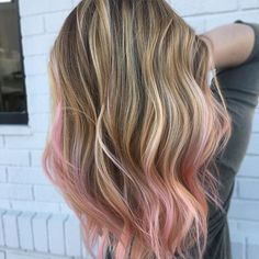Blended Baby pink done by @hairbyraquell Balayage with @joico and pink with @joicointensity  light pink