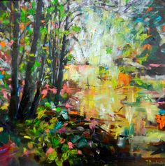 beautiful painting 'river sparkles' by Julie Dumbarton