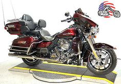 motorcycles-scooters: Harley-Davidson: Touring 2014 2 tone red harley davidson…