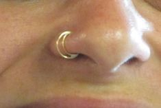 Half moon Nose Ring 14k gold nose ring  by ShirazelohevJewelry