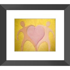 The Love Between Us Radiates -  Framed Print of Acrylic Paint Fine Art - The Unfolding Butterfly