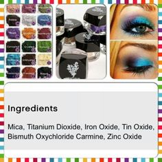Beautiful Pigments(eye shadows) can be used for a number of things!! Eyes, Hair Chalk, can even Make your own Nail Polish!!!