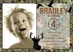 Printable HUNTING BIRTHDAY INVITATION Party Ideas Pinterest