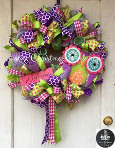 Summer owl wreath by MrsChristmasWorkshop on Etsy