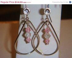 CIJ Silver tear drop dangle earrings with by PaganCellarJewelry, $11.24