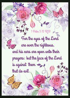 1 Peter 3:12 KJV                                                       …