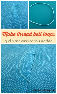 How to make thread belt loops with your sewing machine. Ah ha moment! I'll be adding these to my dresses in future.