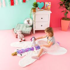 The perfect whimsical addition for any kid's bedroom or play room.