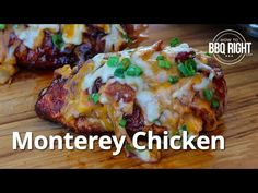 Monterey Chicken - Sweet & Spicy Barbecue chicken topped with thick cut bacon and smothered in Monterey Jack and Sharp Cheddar Smoked Chicken, Barbecue Chicken, Grilled Chicken, Chicken On The Grill, Keto Chicken, Pellet Grill Recipes, Grilling Recipes, Traeger Recipes, Grilling Ideas