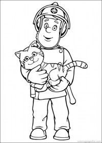 Fireman Sam Coloring Pages 1