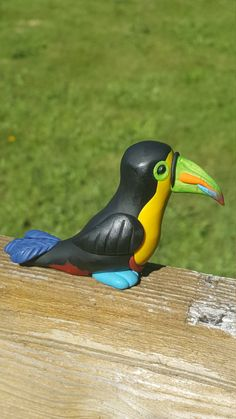 Polymer clay toucan by ARAartisticcreations on Etsy
