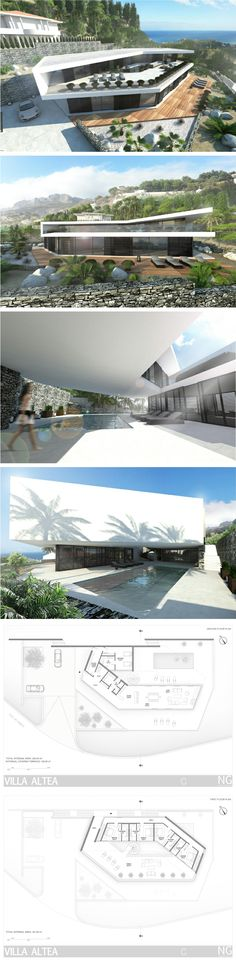 - ANTIPOLO - Modern villa in Spain by NG architects www. Detail Architecture, Beautiful Architecture, Contemporary Architecture, Villa Design, Modern House Design, Residential Architecture, Interior Architecture, Building Architecture, Design Exterior