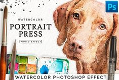 Watercolor Portrait Effect PRO by DrifterStudioPrints on @creativemarket
