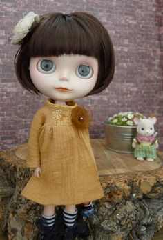Mooji Dress - Saddle Brown - For Blythe