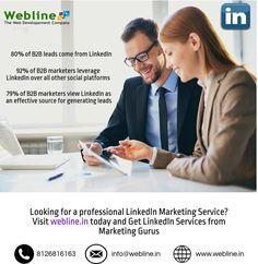 Are you looking for professional #linkedIn Services ? Visit www.webline.in #WeblineDigital today. #SEO, #SMO, #DigitalMarketing
