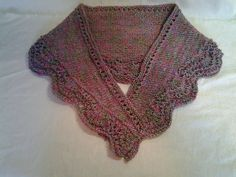 Ravelry: Quick Fan & Feather Scarf / Shawlette pattern by Linda Grant