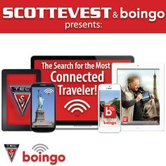 Most Connected Traveler Contest: Enter To Win Prizes From Boingo and Scottevest!