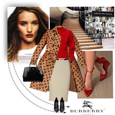 Burberry Trench by ambervogue on Polyvore featuring мода, Burberry, Yves Saint Laurent, Prada and Topshop