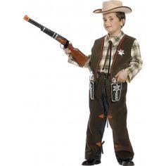 Lleva a tu pequeño al lejano oeste y prepáralo para grandes duelos con este disfraz de vaquero para niño.