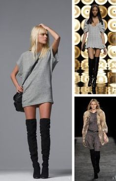 Thigh High Boots-Outfits to Wear with Thigh High Boots | High ...