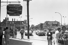 Bannantyne & Woodland(looking east? Old Montreal, Montreal Ville, Vintage Photographs, Quebec, Coca Cola, Woodland, Times Square, Images, Street View