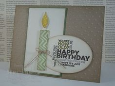 Tape It Birthday Card, Jenny Peterson, Stampin' Up! Demonstrator, Stampin Success