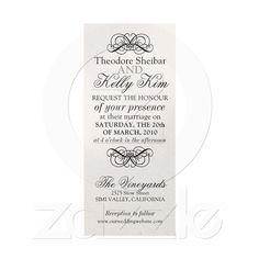 Wedding Invite swirl, mixed type on Zazzle.co.nz