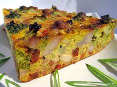 Nejedlé recepty: Brokolice zapečená s masem, sýrem a sušenými rajča... Quiche, Label, Search, Breakfast, Food, Cooking, Morning Coffee, Searching, Essen