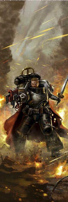 Post with 4535 views. Warhammer 40000 Deathwatch, Warhammer 40k Art, Warhammer Fantasy, Character Art, Character Design, Grey Knights, Angel Of Death, Space Marine, Fantastic Art