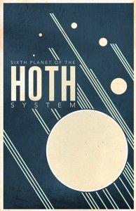 Retro STAR WARS travel posters