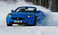 Not sure about the color, but the drop top next to the snow caught my attention! Jaguar.
