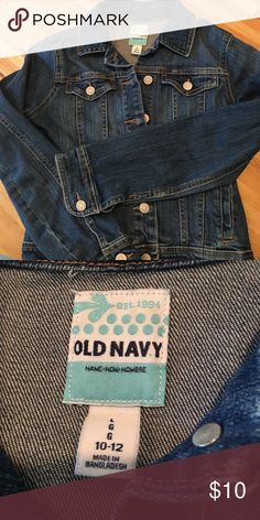 Girls old navy 10-12 medium blue Jean jacket Like. Ew Jean jacket - worn only a few times Old Navy Jackets & Coats