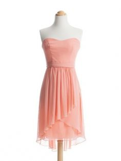 Simple pink short prom dress / bridesmaid dress/homecoming dress