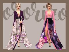 Ondria Recolor Evening Dress by Ororizo at TSR • Sims 4 Updates
