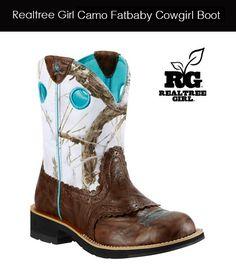 Realtree Girl Snow Camo Cowgirl Boot #realtreegirl #snowcamo #cowgirl #boots