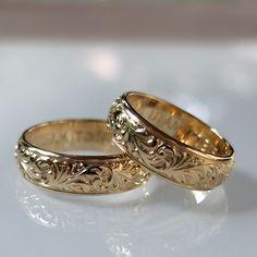 Wasze Obrączki -  ręcznie grawerowane obrączki z żółtego złota