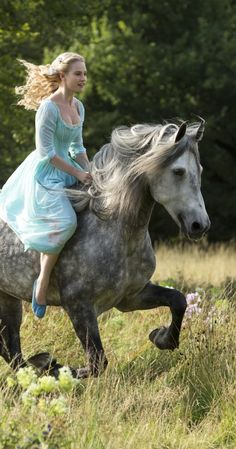 First image from Disney's Cinderella (2015)  AND she's played by the same actress (Lily James) who played the Crawley's cousin Rose in Downton Abbey!