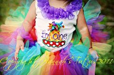 Rainbow Tutu for 1st Birthday, baby, infant, toddler Candyland Party on Etsy, $25.00