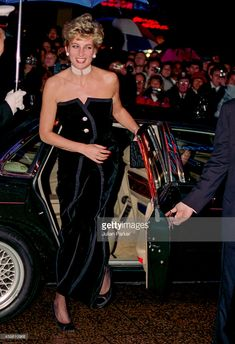 "Princess Diana at the Royal Premiere of the film ""1492: Conquest of Paradise"" in central London on October 19th 1992."