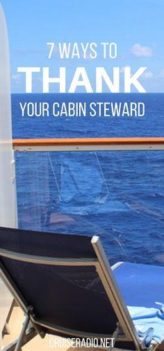 7 Ways to Thank Your Cabin Steward
