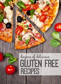 Dozens of delicious healthy gluten free recipes for dinner. Your entire family will love going gluten free! Gf Recipes, Dairy Free Recipes, Healthy Recipes, Dinner Recipes, Pizza Recipes, Dessert Recipes, Gluten Free Dinner, Gluten Free Cooking, Gluten Free Living