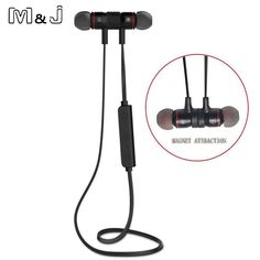 Adroit 2018 Hottest Fashion Magnetic Wireless Bluetooth Sports Earphones Heavy Bass Metal Earbuds In-ear Earpieces Universal For Phone Consumer Electronics